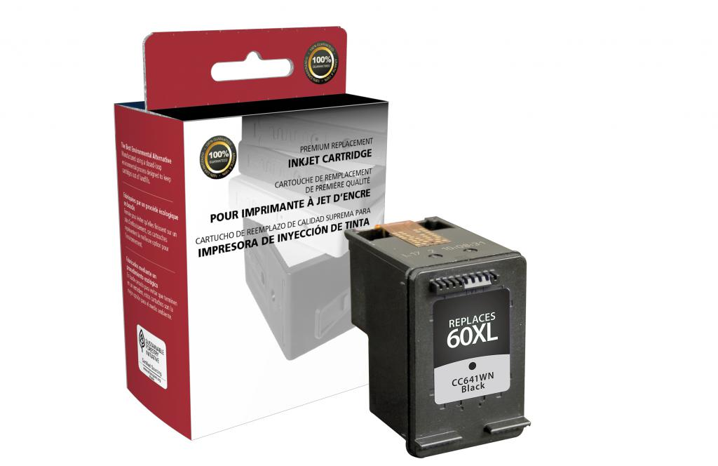 OTPG Remanufactured High Yield Black Ink Cartridge for HP CC641WN (HP 60XL)