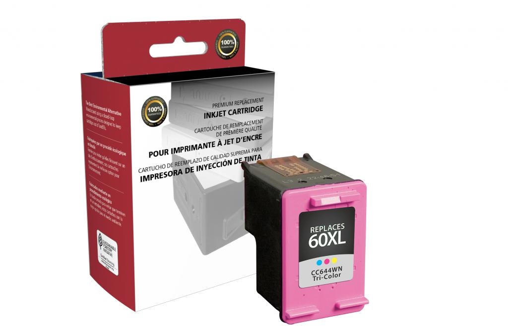 OTPG Remanufactured High Yield Tri-Color Ink Cartridge for HP CC644WN (HP 60XL)