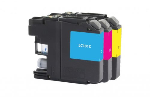 OTPG Non-OEM New Cyan, Magenta, Yellow Ink Cartridges for Brother LC101 3-Pack
