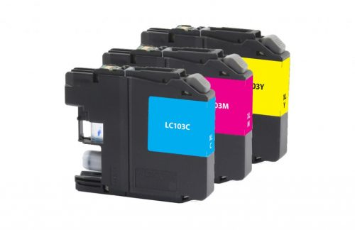 OTPG Non-OEM New High Yield Cyan, Magenta, Yellow Ink Cartridges for Brother LC-103XL 3-Pack