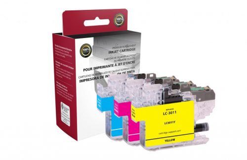 OTPG Non-OEM New Cyan, Magenta, Yellow Ink Cartridge 3-Pack for Brother LC3011