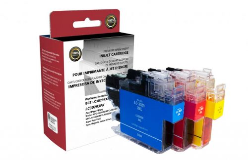 OTPG Non-OEM New Super High Yield Cyan, Magenta, Yellow Ink Cartridges 3-Pack for Brother LC3029