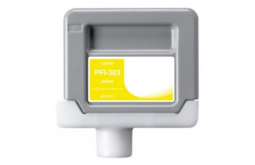 WF Non-OEM New Yellow Wide Format Ink Cartridge for 2961B001AA (PFI-303)