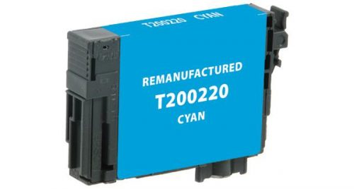 EPC Remanufactured Cyan Ink Cartridge for Epson T200220