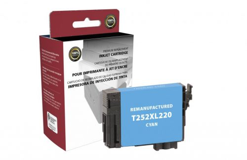 EPC Remanufactured High Yield Cyan Ink Cartridge for Epson T252XL220