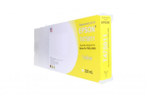 WF Non-OEM New Yellow Wide Format Ink Cartridge for T475011