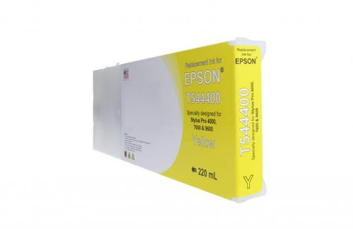 WF Remanufactured High Capacity Yellow Wide Format Ink Cartridge for Epson T544400