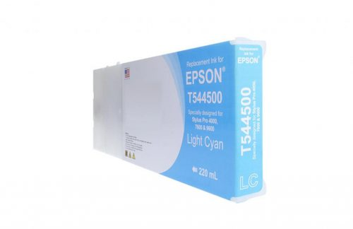 WF Remanufactured High Capacity Light Cyan Wide Format Ink Cartridge for Epson T544500