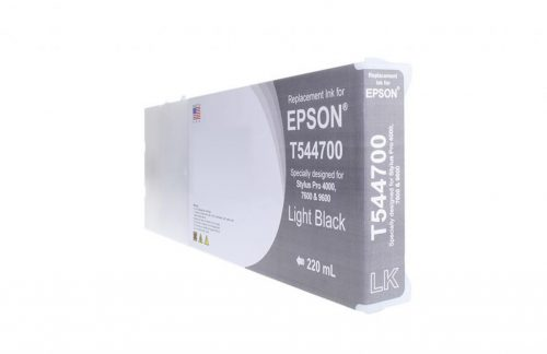 WF Remanufactured High Capacity Light Black Wide Format Ink Cartridge for Epson T544700