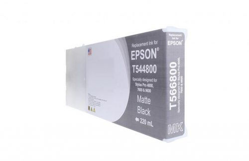 WF Remanufactured High Capacity Matte Black Wide Format Ink Cartridge for Epson T544800A