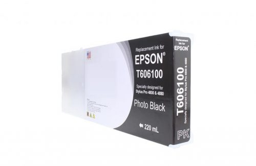 WF Remanufactured High Yield Photo Black Universal Wide Format Ink Cartridge for Epson T606100/T565100