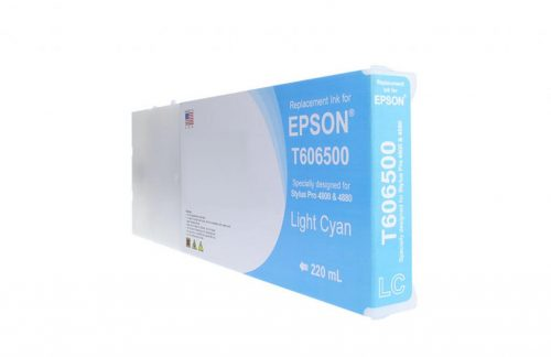WF Remanufactured High Yield Light Cyan Universal Wide Format Ink Cartridge for Epson T606500/T565500