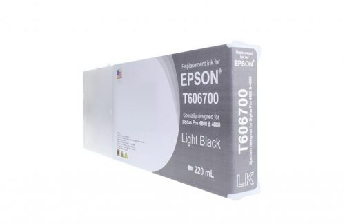 WF Remanufactured High Yield Light Black Universal Wide Format Ink Cartridge for Epson T606700/T565700
