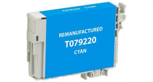 EPC Remanufactured High Yield Cyan Ink Cartridge for Epson T079220