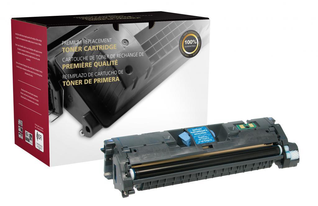 OTPG Remanufactured Cyan Toner Cartridge for HP C9701A/Q3961A (HP 121A/122A/123A)
