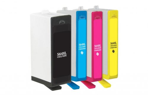 Clover Imaging Remanufactured Black High Yield, Cyan, Magenta, Yellow Ink Cartridges for HP 564XL/564