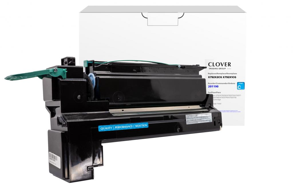 OTPG  Remanufactured Extra High Yield Cyan Toner Cartridge for Lexmark X792
