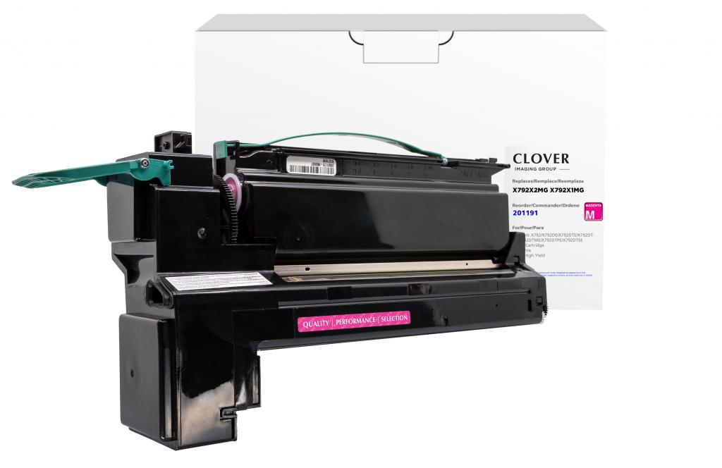 OTPG  Remanufactured Extra High Yield Magenta Toner Cartridge for Lexmark X792