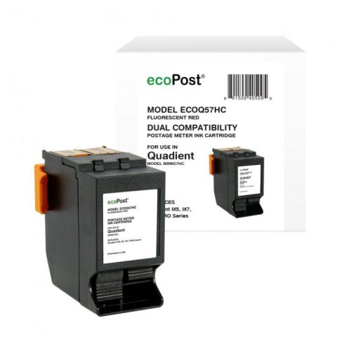 ecoPost Non-OEM New Postage Meter Red Ink Cartridge for Quadient (NeoPost) IXINK57HC