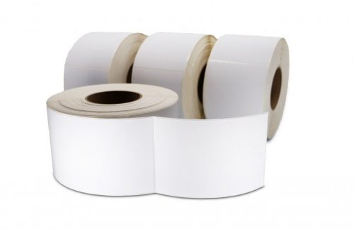 """Clover Imaging Non-OEM New Direct Thermal Label Roll 3.0"""" ID x 8.0"""" Max OD for Industrial Barcode Printers"""