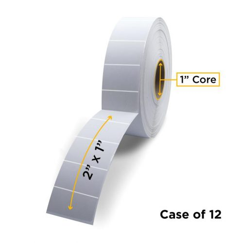 """Clover Imaging Non-OEM New Direct Thermal Label Roll 1.0"""" ID x 5.0"""" Max OD for Desktop Barcode Printers"""