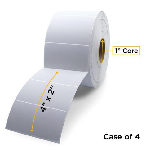 "Clover Imaging Non-OEM New Thermal Transfer Label Roll 1.0"" ID x 5.0"" Max OD for Desktop Barcode Printers"